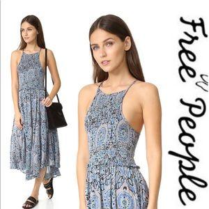Free People | Season in the Sun midi slip dress XS